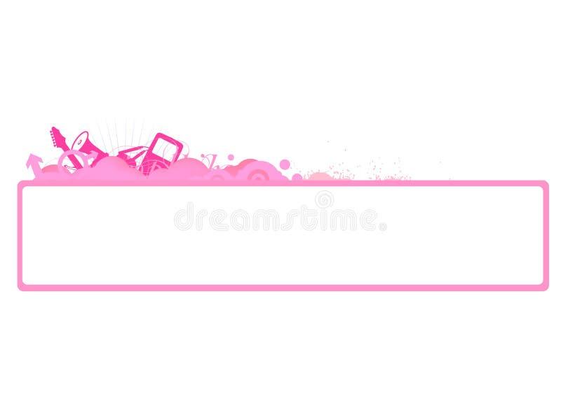rengöringsduk för vektor för lokal för blogdesigntitelrad royaltyfri illustrationer