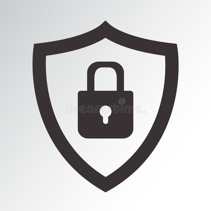 rengöringsduk för vektor för symbolssäkerhet set Skyddssymbol Skydda med padlocken också vektor för coreldrawillustration stock illustrationer