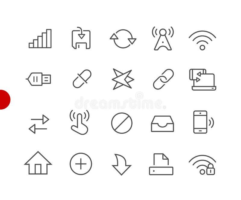 Rengöringsduk- & mobilsymboler 6 //röda punktserie stock illustrationer