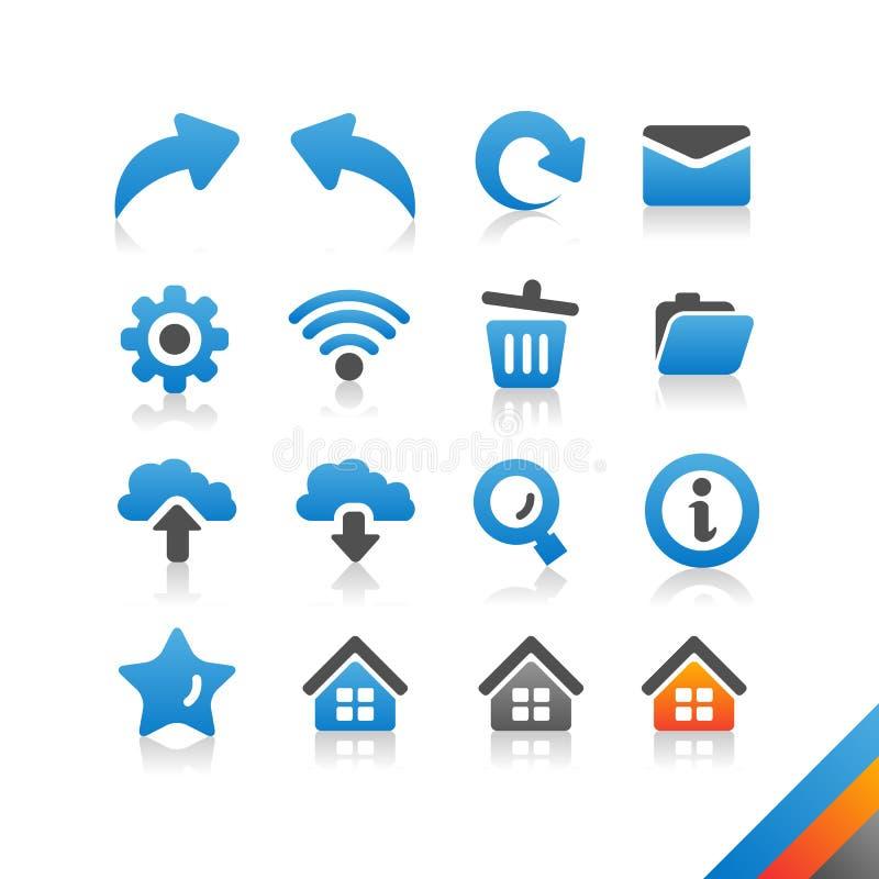 Rengöringsduk- och internetsymbolsuppsättning - enkelhetsserie stock illustrationer