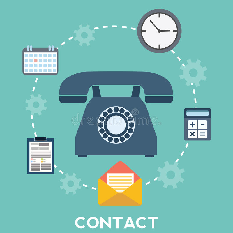 Rengöringsduk- och mobiltelefonservice och apps Symboler för faq, informationsblad, service, kontakt royaltyfri illustrationer