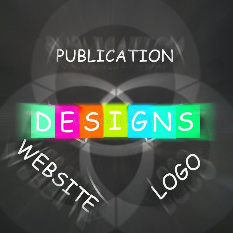 Rengöringsdukdesignen uttrycker skärmdesigner för Logo Publication och Websi stock illustrationer
