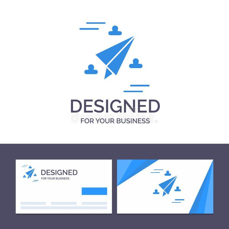 Rengöringsduken för den idérika mallen för affärskortet och logo, designen, papper, flyger vektorillustrationen royaltyfri illustrationer