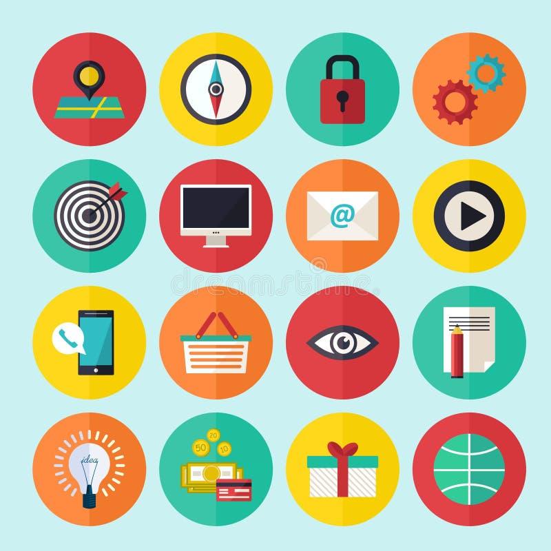 Rengöringsdukinfographicssymboler ställde in för affärsplatsen, presentationer etc. stock illustrationer