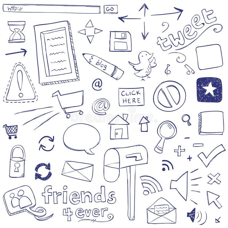 Rengöringsdukklotter vektor illustrationer