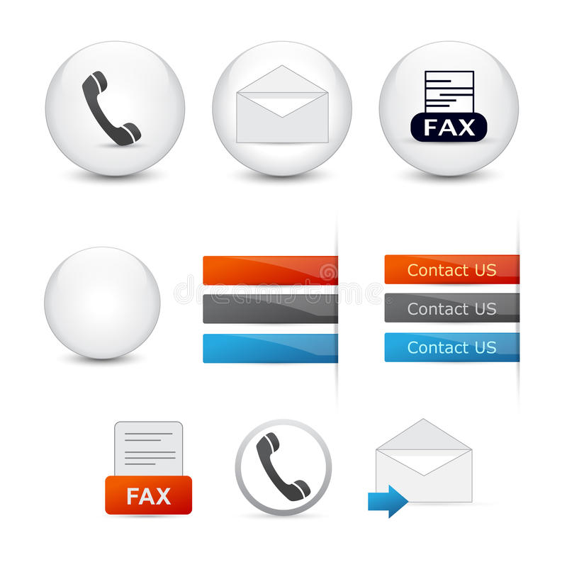 Rengöringsduksymboler: Kontakta oss vektor illustrationer