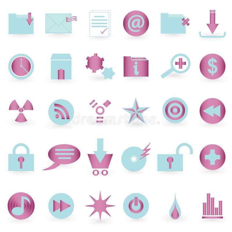 RENGÖRINGSDUKsymbols- och symbolvektorset stock illustrationer