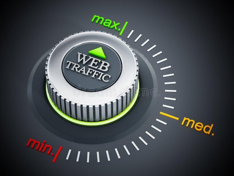 Rengöringsduktrafikknapp som pekar maximum illustration 3d stock illustrationer