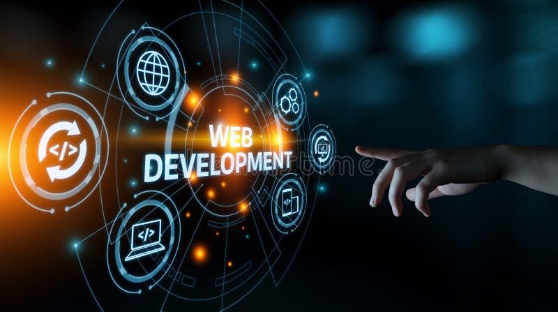 Rengöringsdukutveckling som kodifierar programmera internetteknologiaffärsidé royaltyfri bild