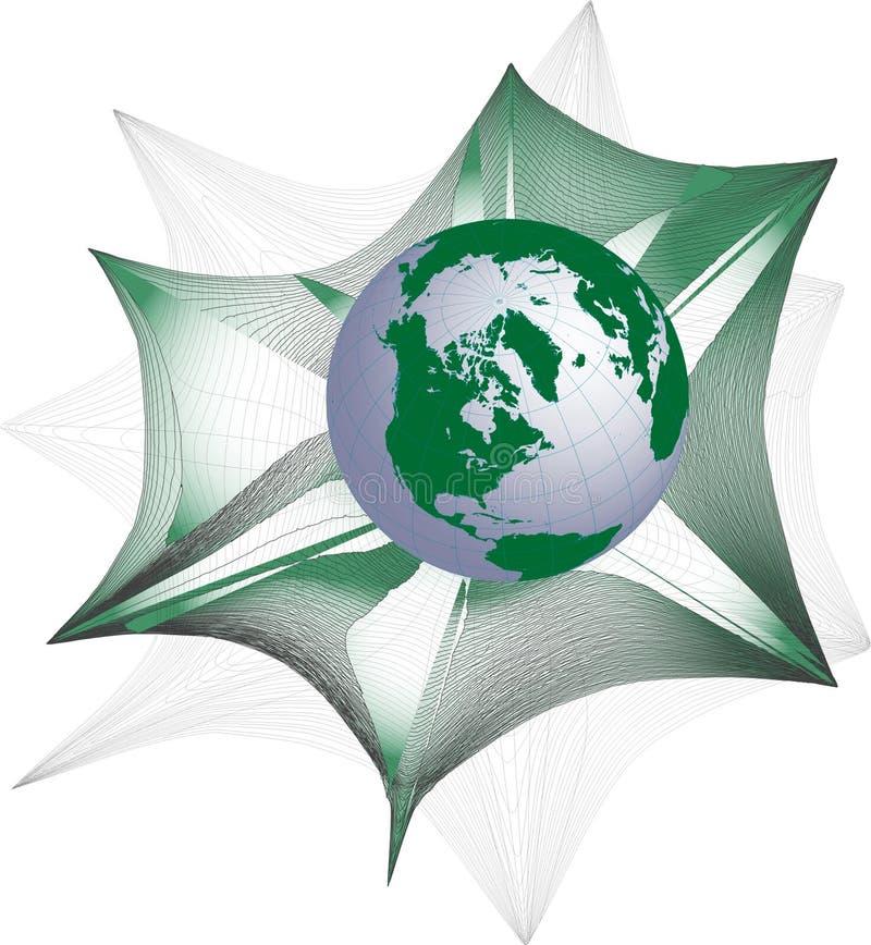 rengöringsdukvärld stock illustrationer