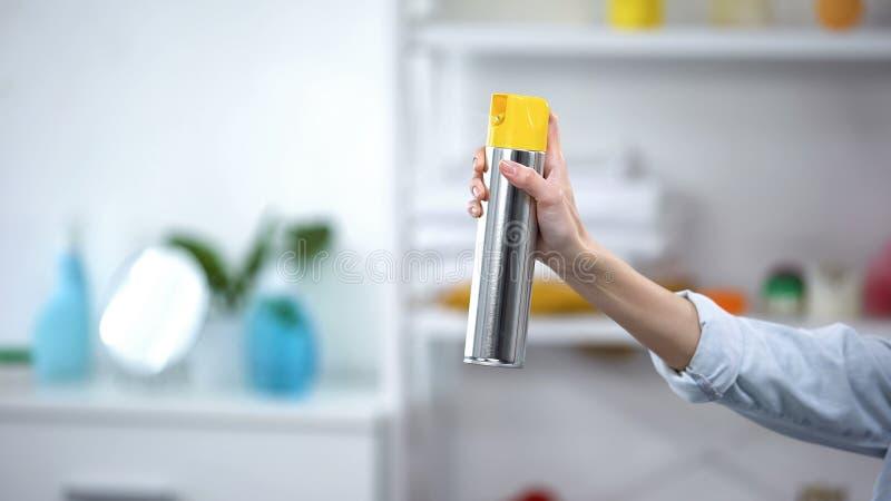 Rengöringsmedel för handsprutning i rum, lukt, arom, hushållning royaltyfria bilder