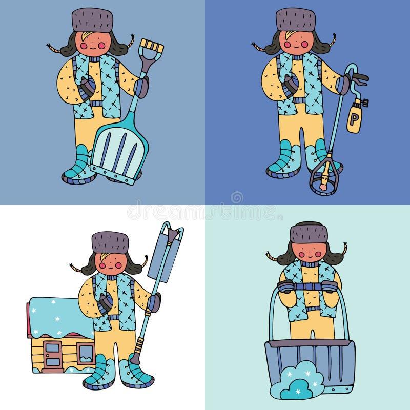 Reng?ringsduk stock illustrationer