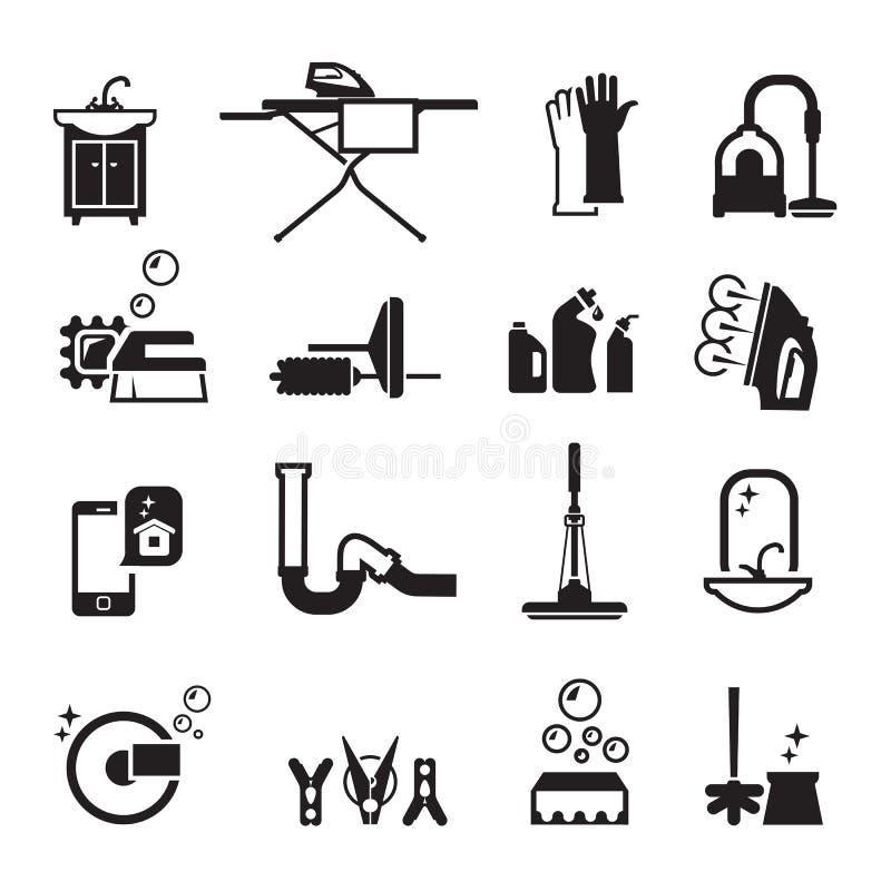Renhetsymbolsuppsättning royaltyfri illustrationer
