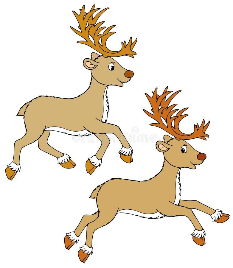 renifer royalty ilustracja