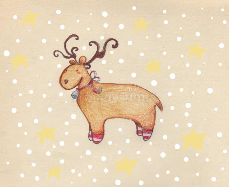 renifera śnieg ilustracji