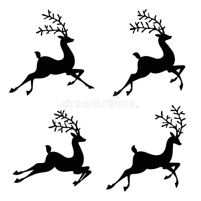 Reniferowa sylwetki ilustracja royalty ilustracja