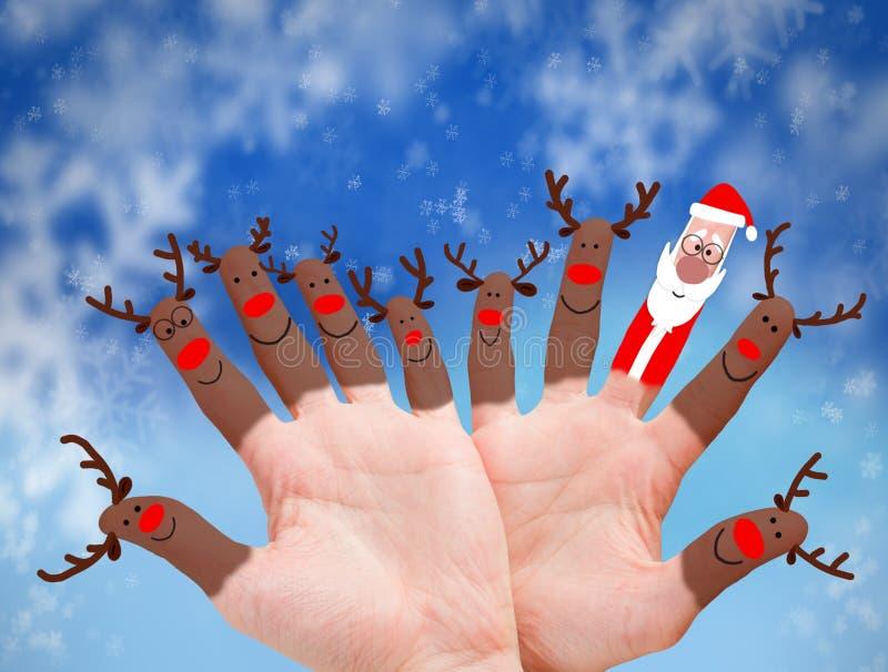 Reniferowy Święty Mikołaj ilustracja wektor