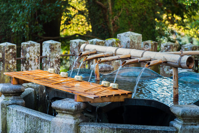 ReningområdesSeiganto-ji tempel i Wakayama, Japan arkivfoton
