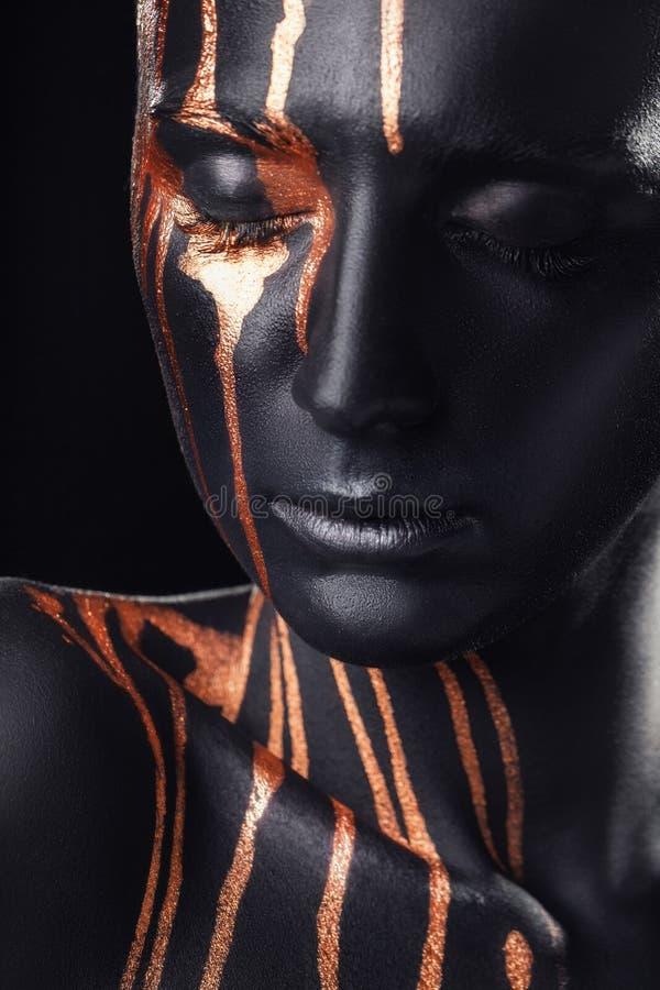 Renivellement noir photographie stock