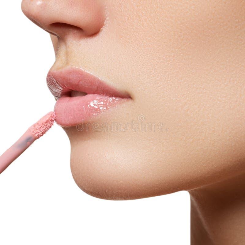 Renivellement professionnel Lipgloss Rouge à lievres image stock