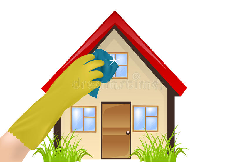 Renlighet i hemmet royaltyfri illustrationer
