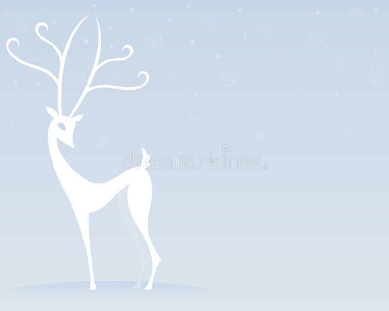Renna nel bianco royalty illustrazione gratis