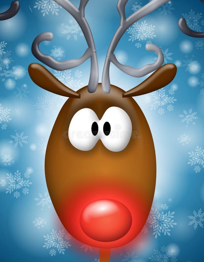 Renne flairé rouge de Rudolph illustration de vecteur