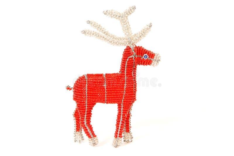 Renne rouge de Noël image libre de droits