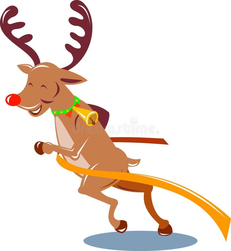 renne rouge flairé Rudolph illustration de vecteur
