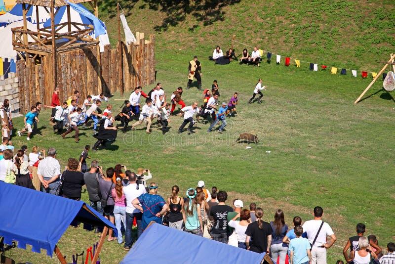 Renneissance giusto in Koprivnica, Croazia fotografie stock libere da diritti