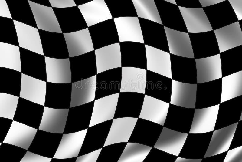 Rennen-Markierungsfahne stock abbildung