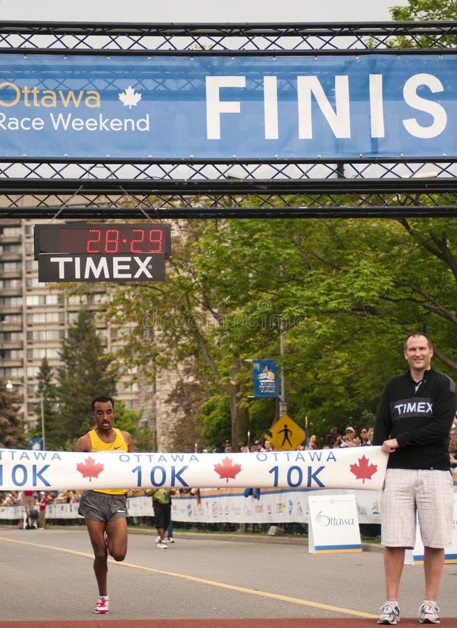 Rennen Ottawa-10km stockbilder