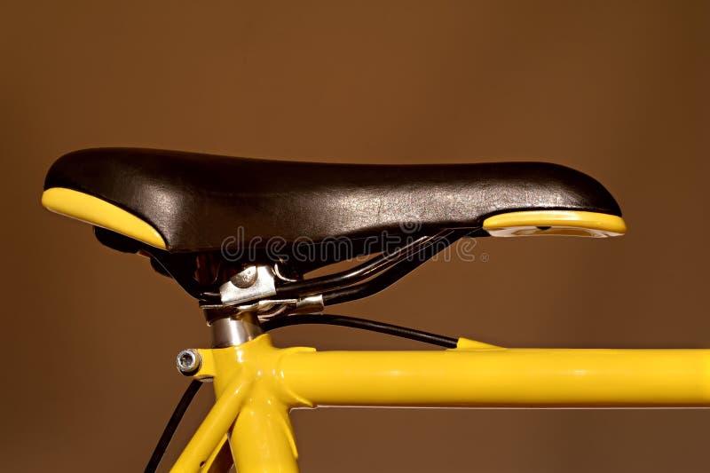 Rennend fietszadel stock foto's