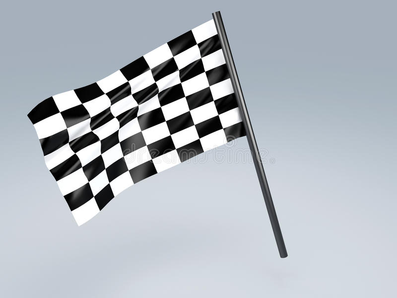 Rennende vlag royalty-vrije illustratie