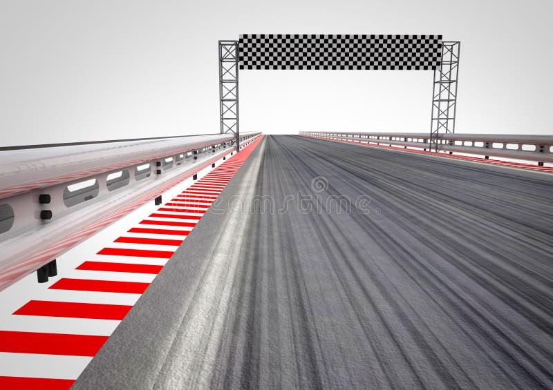 Rennenkreisläuf-Ziellinieperspektive