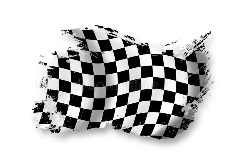 Rennenmarkierungsfahne vektor abbildung