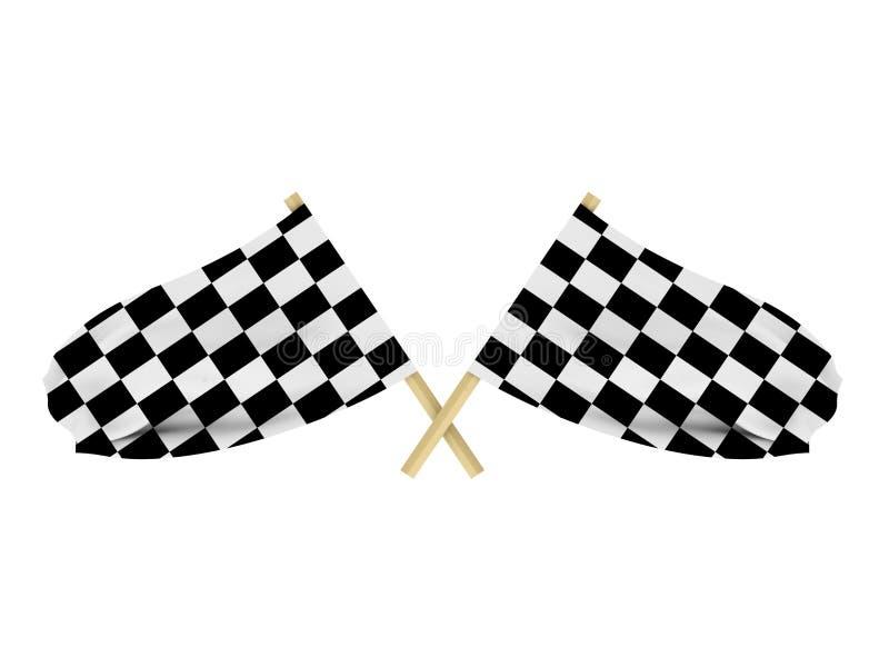 Rennenmarkierungsfahnen lizenzfreie abbildung