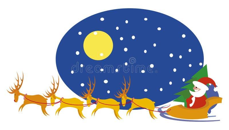 rennes Santa illustration de vecteur