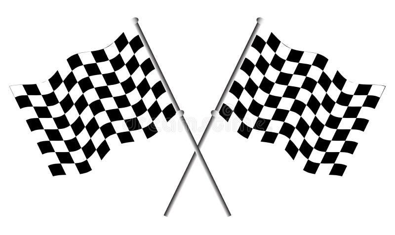 Rennflaggen lizenzfreie abbildung