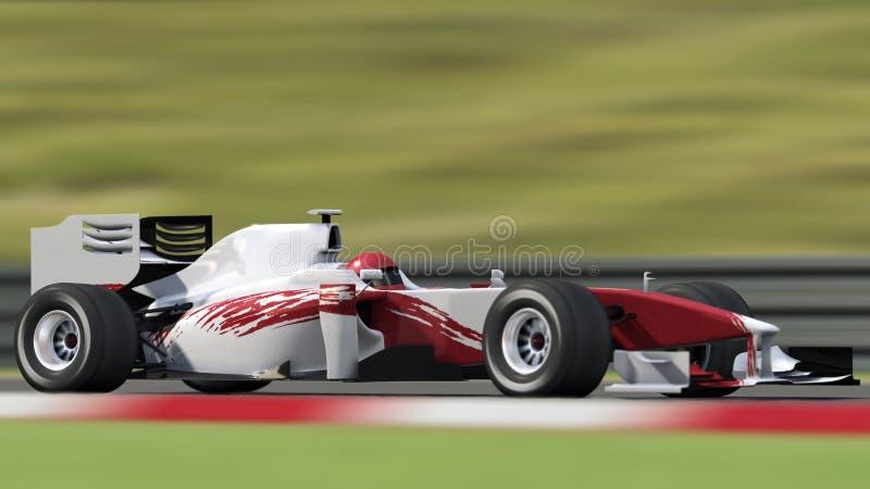 Rennwagen mit unscharfem Hintergrund vektor abbildung