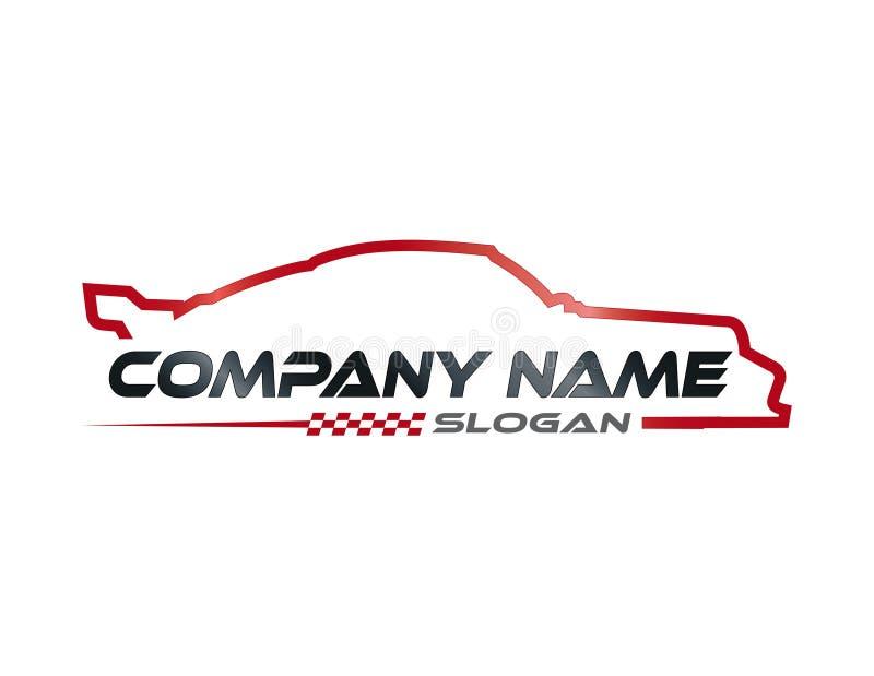 Rennwagensymbol stock abbildung