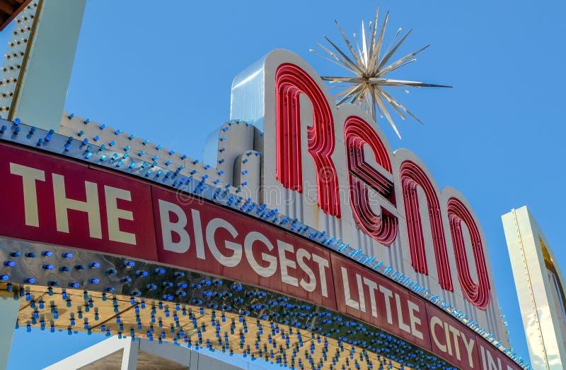 Reno Arch Sign fotografia de stock royalty free