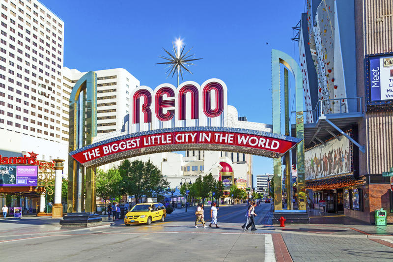 Reno The Biggest Little City imagem de stock royalty free