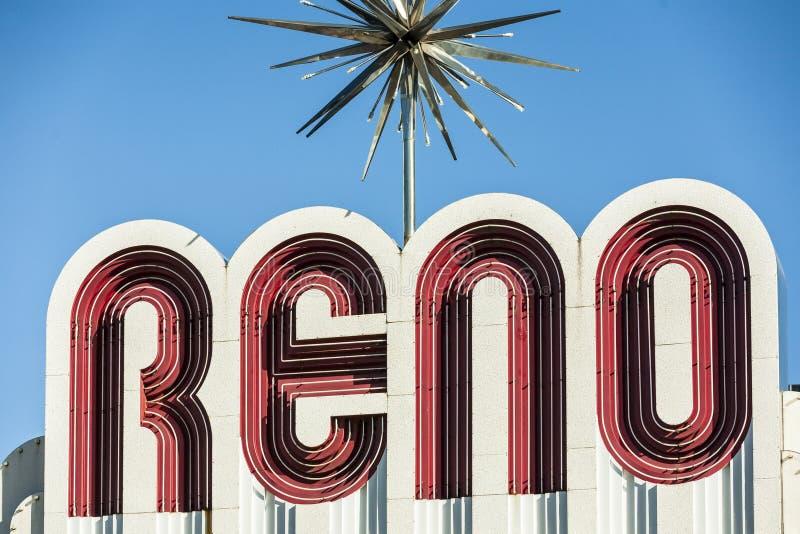 Reno The Biggest Little City en el mundo imagenes de archivo