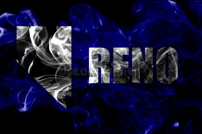 Reno city smoke flag, Nevada State, United States Of America.  royalty free stock photography