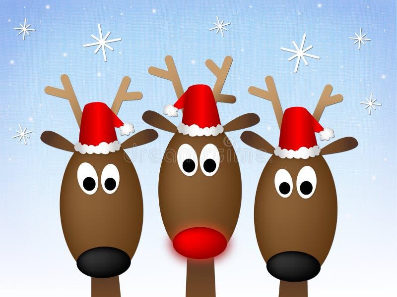 Reno de la Feliz Navidad stock de ilustración