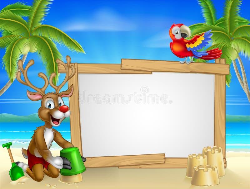 Reno de Santas de la Navidad de la playa libre illustration