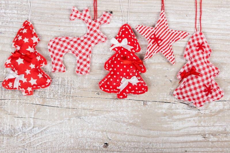Reno, estrellas y árbol de navidad foto de archivo libre de regalías