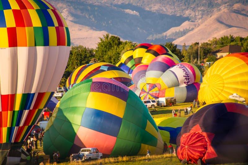 Reno Great Balloon Race fotos de stock royalty free