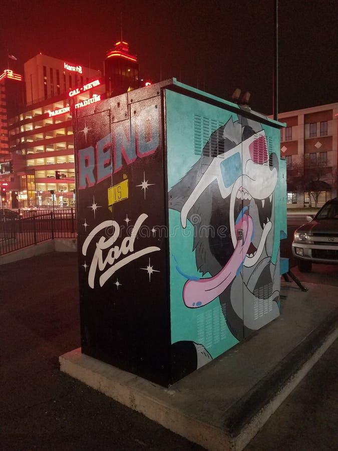 Reno-Kunst stockfoto